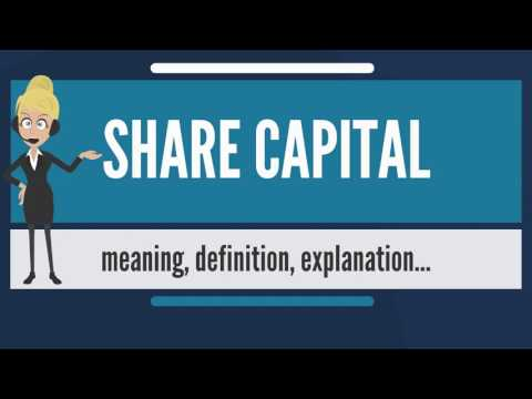 What is SHARE CAPITAL? What does SHARE CAPITAL mean? SHARE CAPITAL meaning & explanation