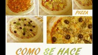 Pizza Italiana casera AUTENTICA. RECETA FÁCIL