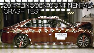 2017 Lincoln Continental Frontal Crash Test