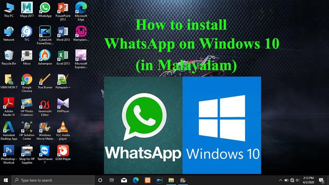 How to install Whatsapp on Windows 12 Laptop (Malayalam Narration