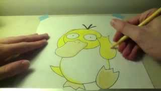 Drawing all the Pokemon: Number 54 Psyduck