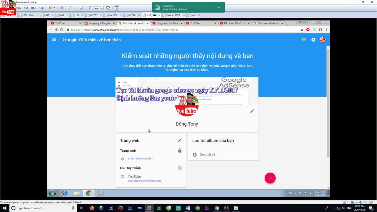 Cách đổi tên kênh và ID username URL youtube theo ý muốn!
