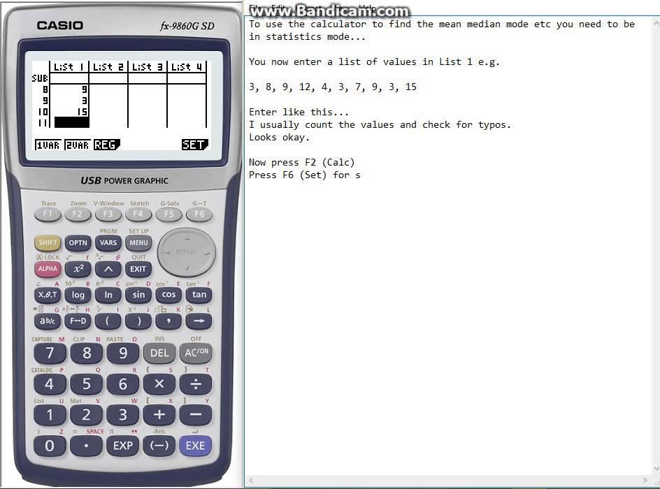 Statistics using a casio fx-83gt ppt video online download.