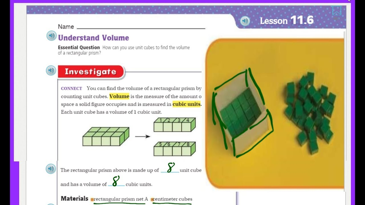 Go Math 5th Grade Lesson 11.6 Understand Volume - YouTube [ 720 x 1280 Pixel ]