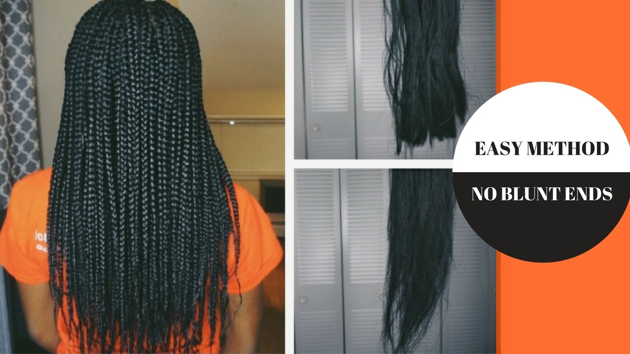 HOW TO FEATHER / TAPER ENDS OF BRAIDING HAIR