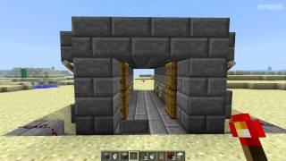 Minecraft Обучение # Дверь ловушка (решать вам)