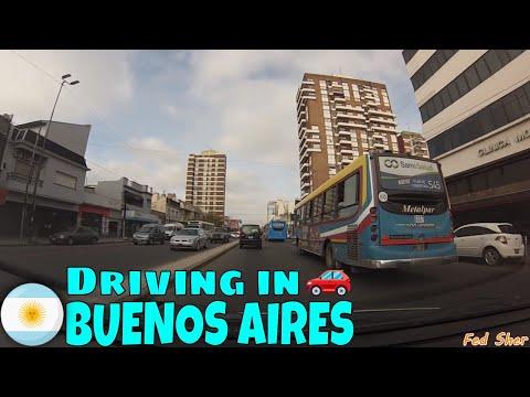 Driving in Buenos Aires (from Lanús to Remedios de Escalada)