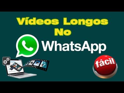 como enviar video longo pelo whatsapp iphone
