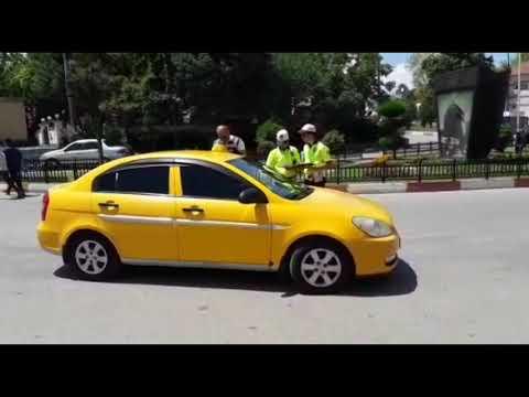 Ticari taksilerin denetiminde, kuru sıkı tabanca çıktı