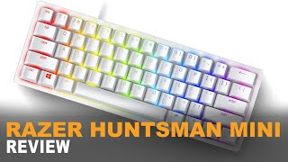 Razer Huntsman Mini Review | Mercury (White) | 4K