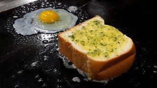 egg fried garlic toast / korean street food