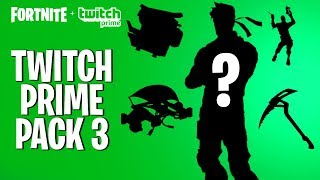 so... this is the twitch prime pack #3 (Fortnite Battle Royale - Twitch Prime Pack 3 RELEASE DATE?)
