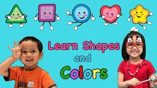 ❤️ Learn SHAPES and Colors!! Awesome Educational Video for Kids?? The Finger Family Song!!