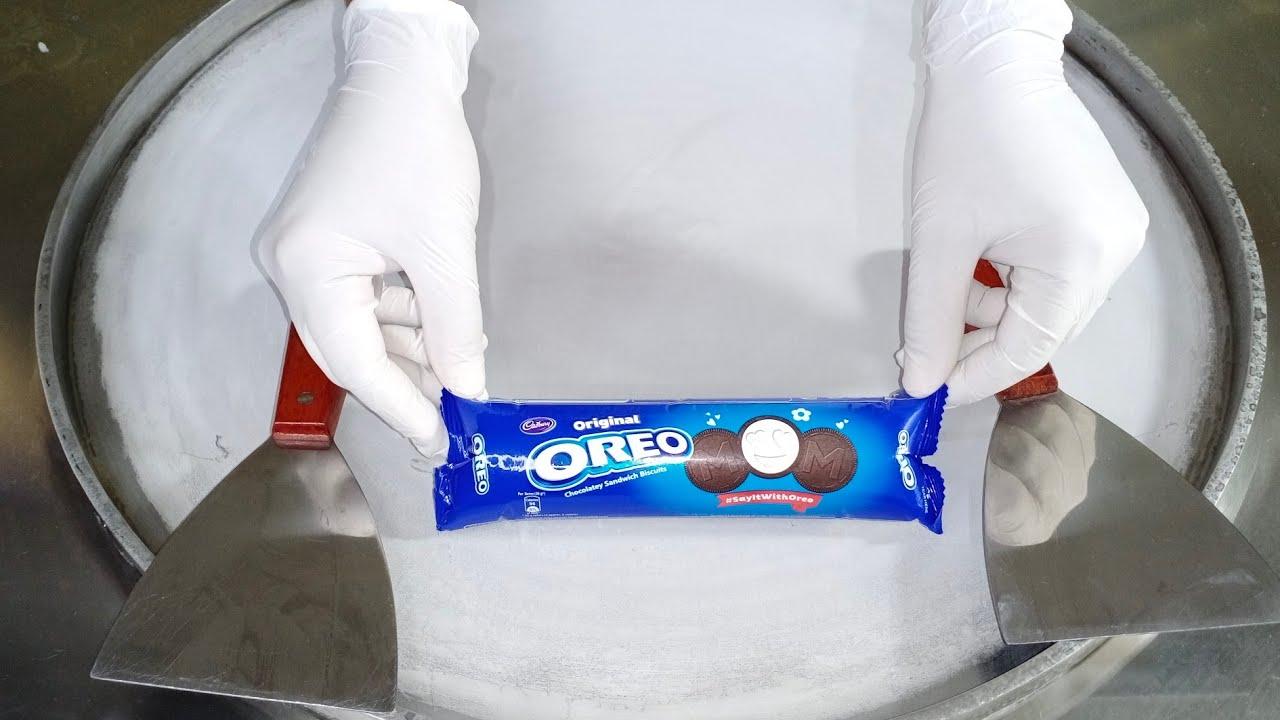 Oreo Chocolatey Sandwich Ice Cream Rolls l how to make an Oreo Ice Cream Sandwich to Ice Cream Rolls