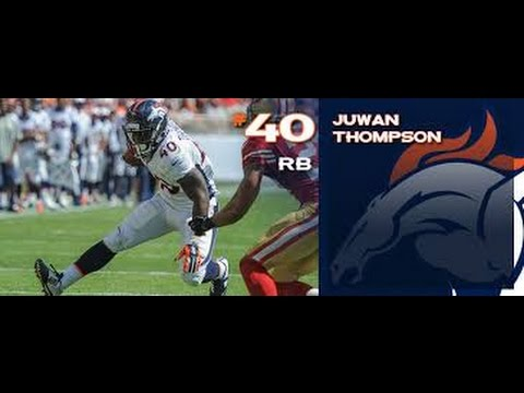 Denver broncos Juwan Thompson breaks loose