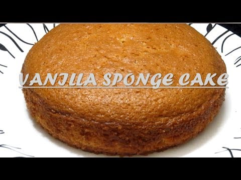 Vanilla Sponge Cake II Basic Sponge Cake II  Beginners Cake Tutorial On Microwave II