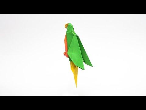 วิธีพับกระดาษเป็นรูปนกแก้ว Origami Parrot