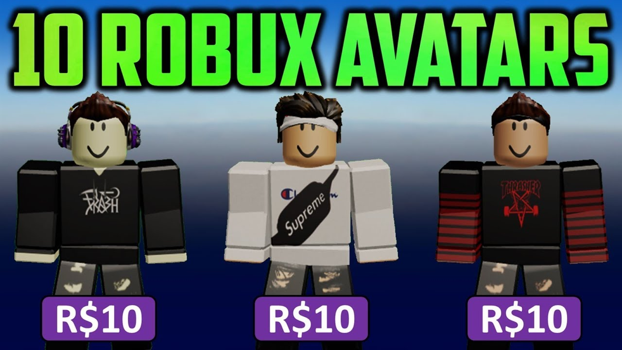 Avatar Outfit Ideas That Only Cost R 10 Roblox Youtube