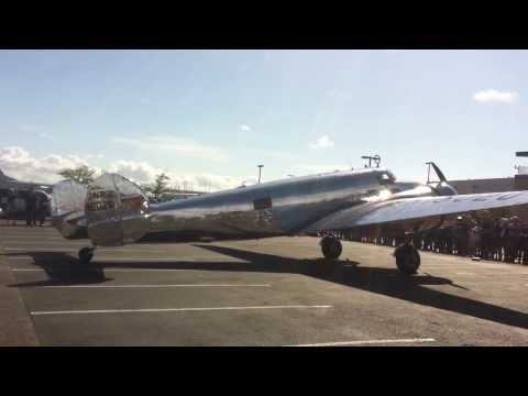 Lockheed Electra arriving at Boeing field/museum of flight.