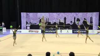 WC 2014 Izmir Finals Bulgaria 3 balls 2 ribbons
