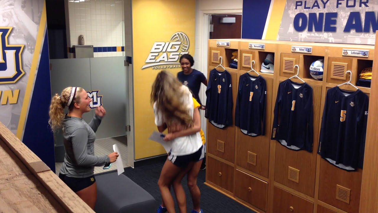 Marquette Volleyball Locker Room Reveal August 2015 YouTube