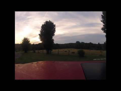 sunrise in Bakersettlement Nova scotia canada