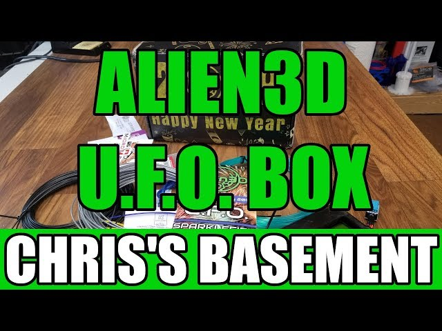 Alien3D U.F.O. Filament Mystery Box - January 2019 - Chris's Basement