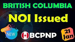 BC PNP. ITA Issued. British Columbia | 21 January 2020