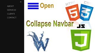 Navbar Collapse Tutorial Using HTML and CSS By Amazing Techno Tutorials