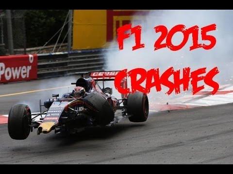 F1 2015 CRASHES