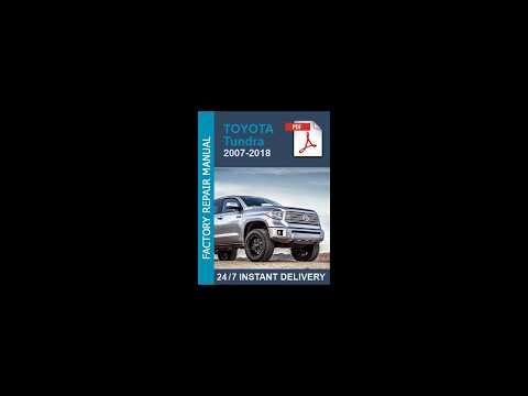 2007 toyota tundra repair manual