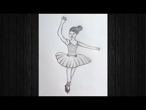 how-to-draw-a-dancing-girl-  -pencil-sketch-drawing