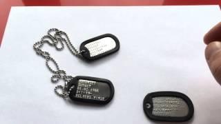 видео жетоны армейские