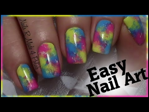 Einfaches Buntes Nageldesign Fur Anfanger Easy Colorful Nail Art