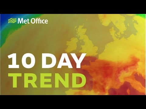 10 Day Trend – Hot weather on the way and thunderstorms too