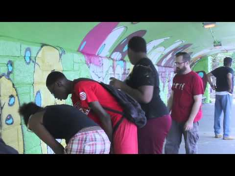 Global Kids from Curtis High School Transform Barrett Triangle Bus Shelter