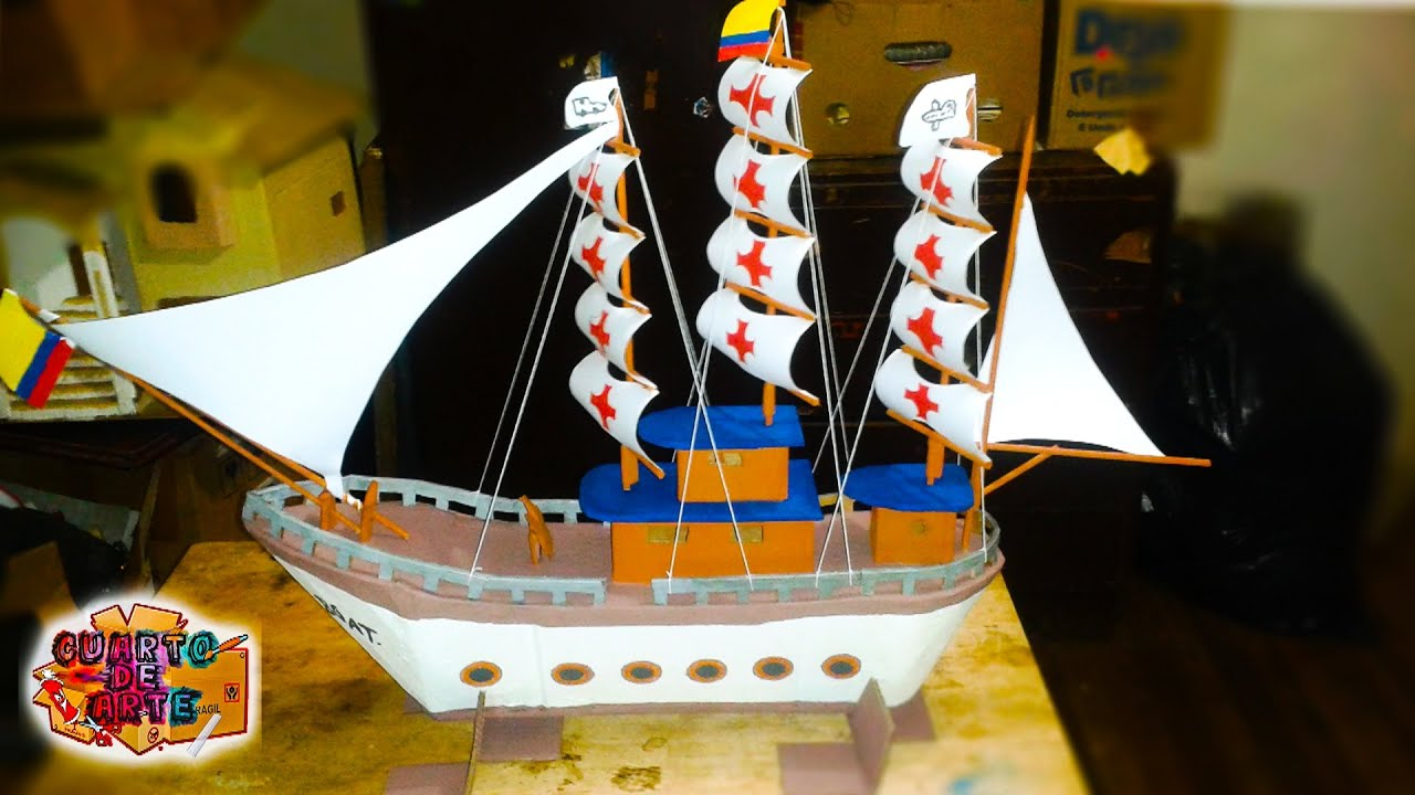 Como hacer un barco Pirata de carton / How to make a boat /CUARTO ...