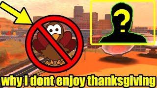 Pourquoi je n'aime pas Thanksgiving (visage révéler secret) Jailbreak Roblox