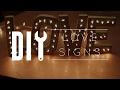 DIY Room Decor // Love Signs