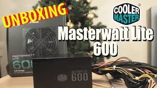 UNBOXING FUENTE DE PODER 600w COOLER MASTER | William Rojas
