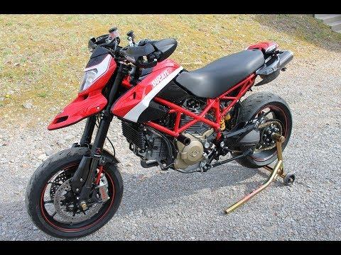 Ducati Hypermotard 1100evo SP walk around review ride