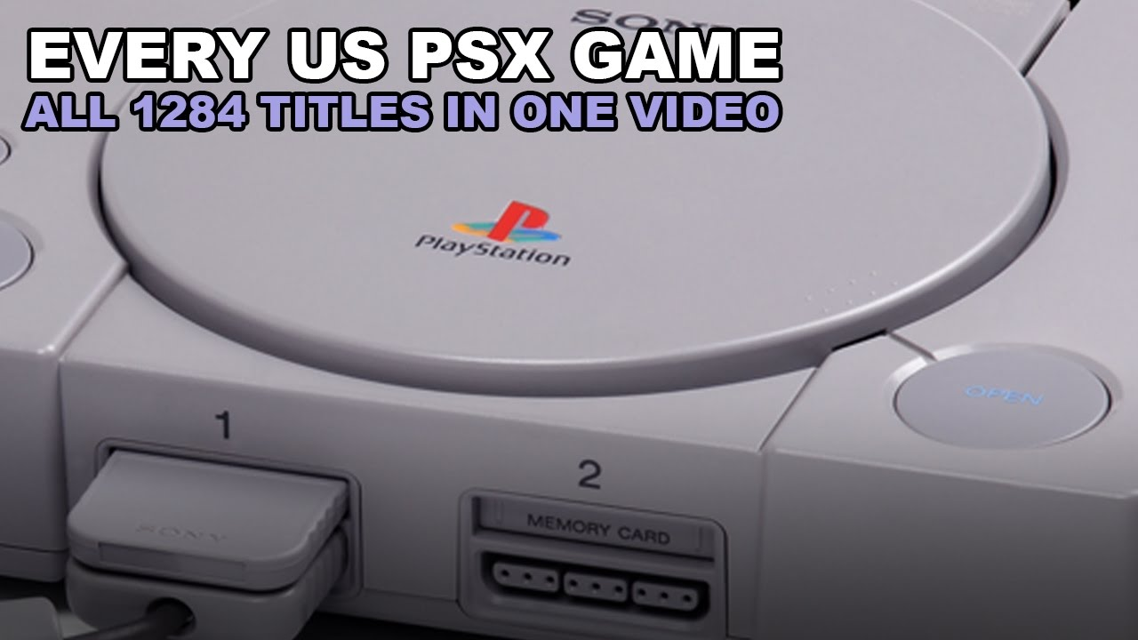 Every Playstation Game All 1284 Usa Retail Ntsc Titles Real Games On Real Hardware Youtube