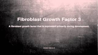 Medical vocabulary: What does Fibroblast Growth Factor 3 mean