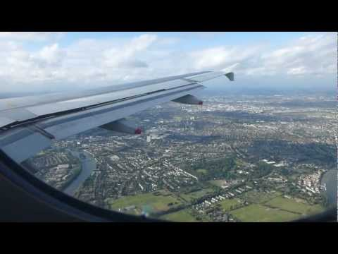 The most wonderful landing at London Heathrow Terminal 3 with British Airways A320 in FULL HD