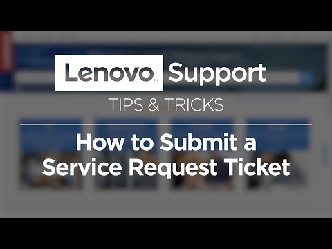How To Submit A Lenovo Service Request