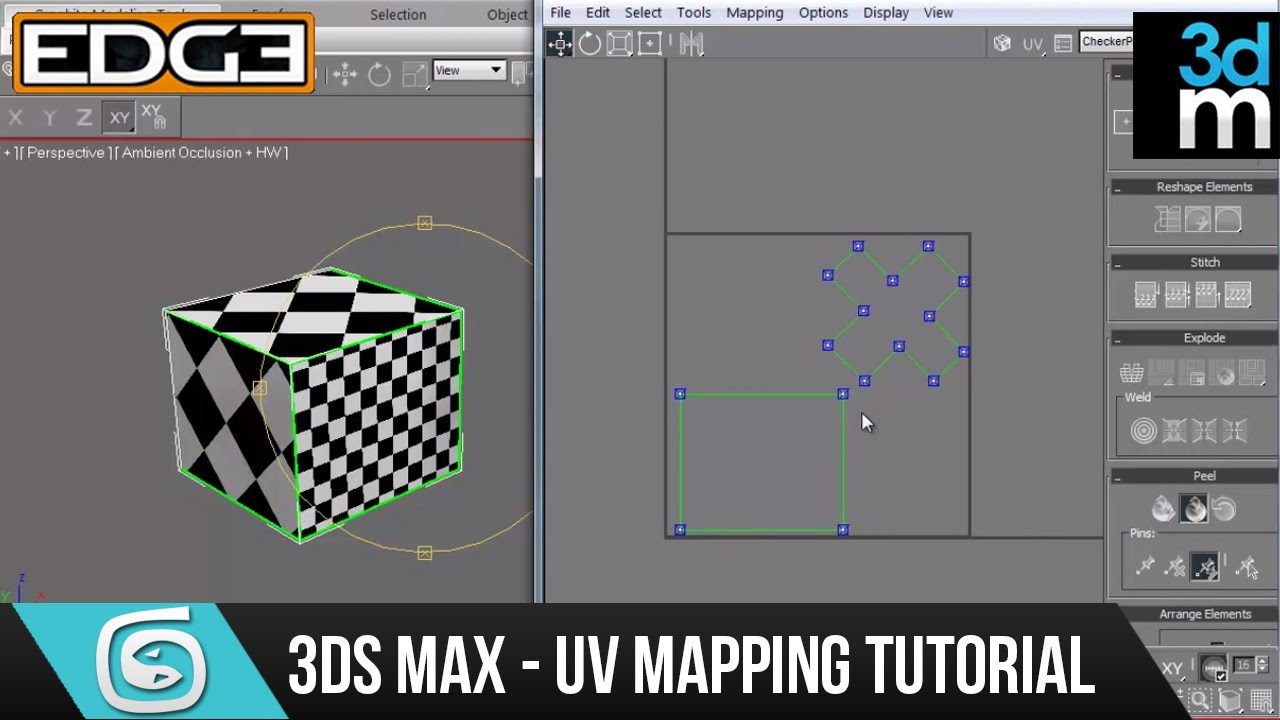 3ds max tutorial uv unwrap for beginners hd by 3dmotive for 3ds max step by step tutorials for beginners