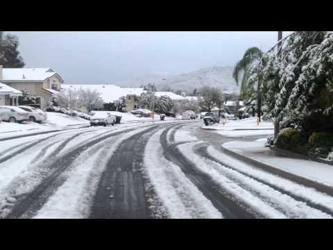Snow in Temecula, CA - Dec. 31, 2014