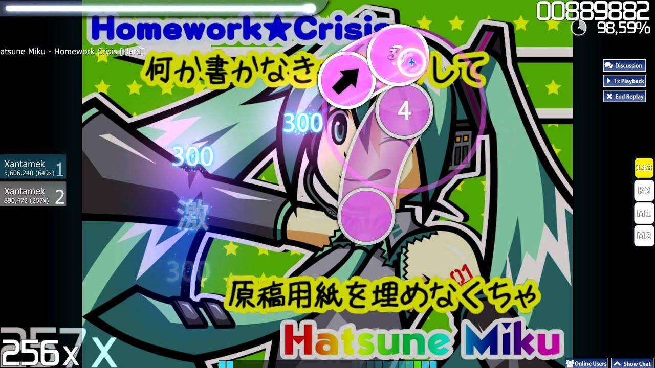 hatsune miku homework crisis osu
