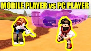 MOBILE PLAYER tries ARRESTING ME on PC... [USER vs STRAW] | Roblox Jailbreak