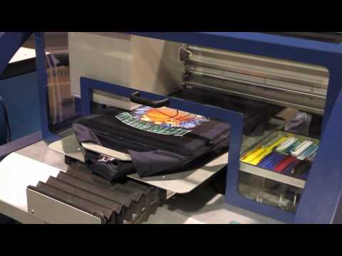 Kornit Breeze 921 DTG Direct to Garment Printer as seen at ISS Long Beach 2010